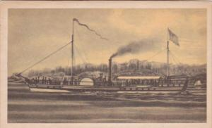 North River Steamboat Clermont Built New York 1807