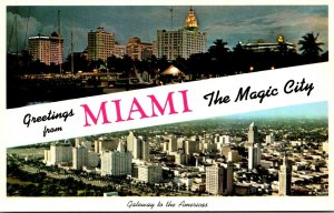 Florida Greetings From Miami The Magic City Showing Skyline