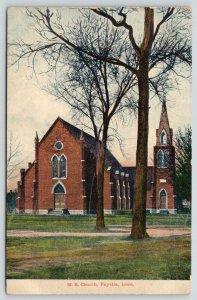 Fayette Iowa~Methodist Episcopal ME Church~Path Around Trees~c1910 Postcard