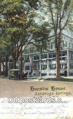 Huestis House, Saratoga Springs, NY, USA Motel Hotel Postcard Post Card Old V...