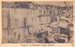 Carthage Missouri Stone Quarry Industrial Antique Postcard K58405