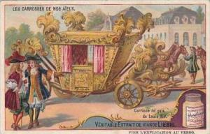 Liebig Vintage Trade Card S981 Our Ancestors Carriages No 3 King Louis XIV