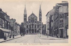 Rue Flechambault Et Eglise Saint Remy, Reims (Marne), France, 1900-1910s