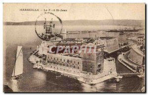 Marseille Old Postcard Fort St. John