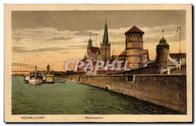Old Postcard Dusseldorf Rheinpartie