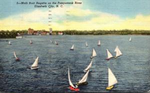 North Carolina Elizabeth City Moth Boat Regatta On The Pasquotank River 1959 ...