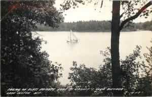 Lake Delton Wisconsin~Uphoff's Club Rotunda~Blass Private Lake~Sailing~1930 RPPC