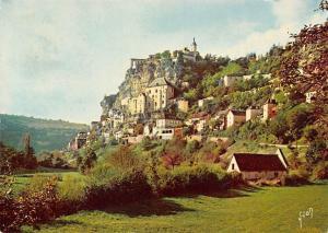France Roc Amadour, Le Villa vu du Ravin de l'Alzou Panorama