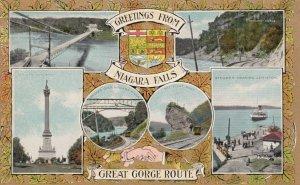 NIAGARA FALLS, Ontario, Canada, 1900-10s; Great Gorge Route, Various Views, B...