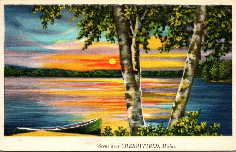 Maine Greetings From Cherryfield 1937