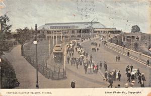 SYDNEY AUSTRALIA~CENTRAL RAILWAY STATION-STAR PHOTO POSTCARD 1907 PMK