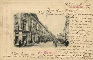 romania, BUCHAREST BUCURESTI, Str. Lipscani, Banca Generala Romana (1903) Stamp