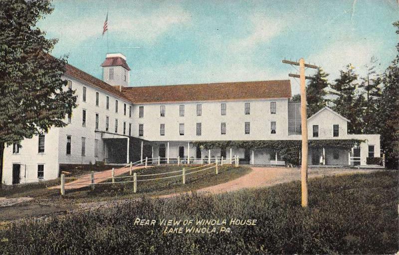 Lake Winola Pennsylvania Rear View Of House Antique Postcard K37917
