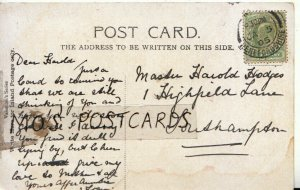 Genealogy Postcard - Harold Hodges - 1 Highfield Lane - Southampton - Ref 9229A