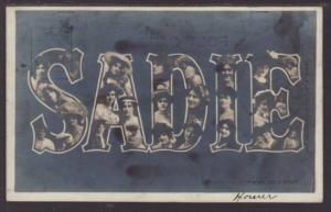 Sadie Women's Faces First Name Postcard
