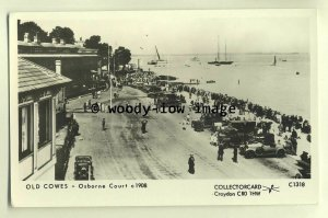 pp1661 - View of Cowes Seafront Osbourne Court, c1908 - Pamlin postcard