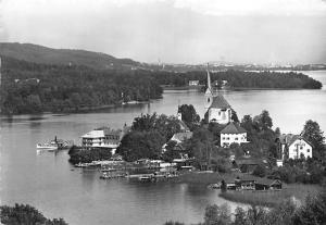 Maria Woerth am Woerthersee Kaernten Gesamtansicht Schiff Boat Lake