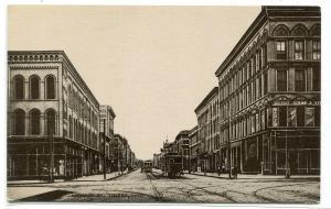 Monroe Street Scene Toledo Ohio 1910 postcard