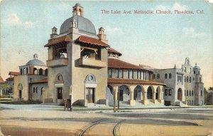 Pasadena California 1909 Postcard Lake Avenue Methodist Church