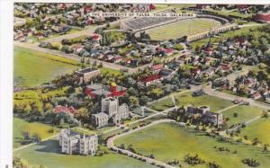 Oklahoma Tulsa University Of Oklahoma Aerial View Showing Stadium