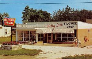Cape May Court House New Jersey Holly Lane Flower Shop Vintage Postcard K20718