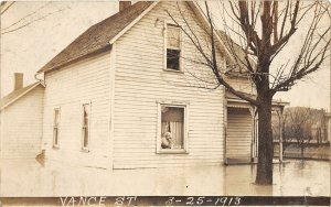 H2/ West Mansfield Logan Co Ohio RPPC Postcard 1913 Flood Disaster 1