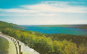 Canada Nova Scotia The Bras Dor Lakes From Kellysd Mountain Lookoff