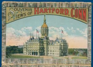 Hartford Connecticut conn ct souvenir postcard folder #2