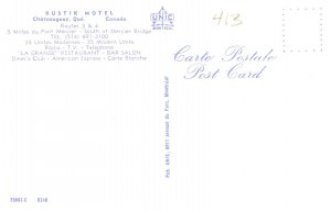 Canada  Chateauguay QUE Rustik Motel
