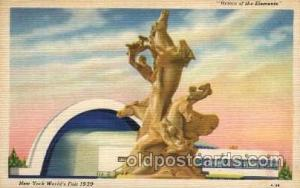New York Worlds Fair 1939 exhibition postcard Post Card  Riders of Elements