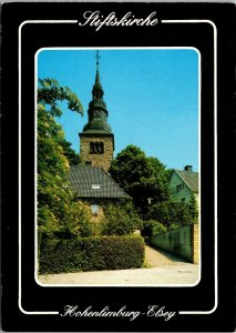 VINTAGE CONTINENTAL SIZE POSTCARD CHURCH IN HOHENLIMBURG ELSEY GERMANY