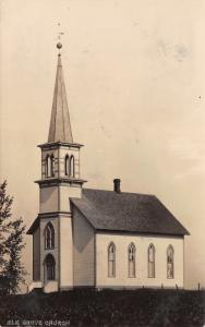 Elk Grove Iowa~Elk Grove Church~Windvane on Steeple~1908 Real Photo~RPPC