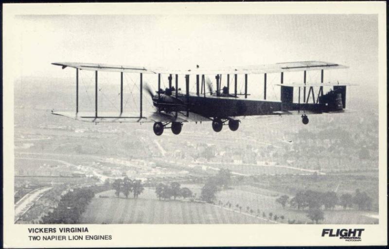 British Royal Air Force Biplane Heavy Bomber Vickers Virginia, Flight