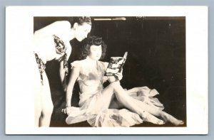 IS SEX NECESSARY BOOK ADVERTISING 2 girl models VINTAGE REAL PHOTO POSTCARD RPPC
