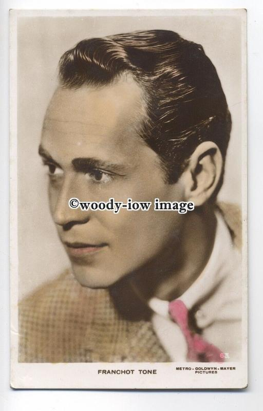 b3588 - Film Actor - Franchot Tone, M.G.M.Pictures No.63 -  postcard