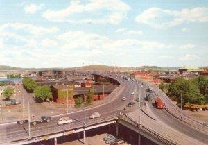 Lorries Traffic Gothenburg Gota River Bridge Sweden 1960s Postcard