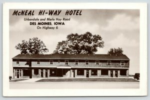 Des Moines IA RPPC~Personal Invitation~Have Your Guests Stay @ McNeal Hotel~1953