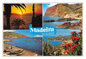 Portugal Madeira Sunset Sea General view Panorama Bateaux Boats