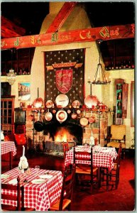 Potomac, Maryland Postcard NORMANDY FARM Restaurant / Fireplace View c1960s