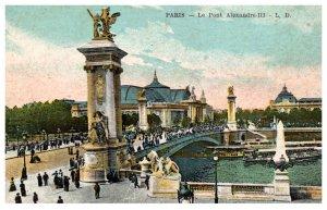 France  Paris ,  Le Pont Alexandre III