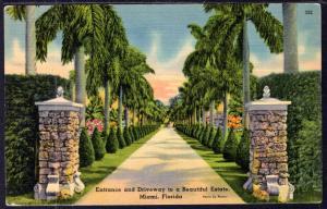 Entrance to an Estate,Miami,FL