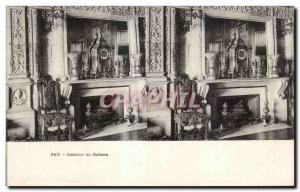 Stereoscopic Card - Pau - Interior of the Castle - Old Postcard
