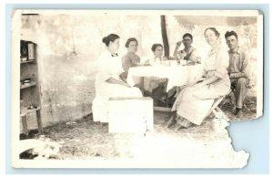 1912 Camping Outing Wichita Kansas KS Posted Antique RPPC Photo Postcard