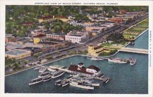 Florida Daytona Beach Aeroplane View Of Beach Street