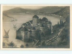 old rppc CHILLON CASTLE Veytaux - Vaud Switzerland i1989