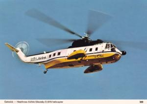 Gatwick Heathrow Airlink Sikorsky S.61N Helicopter Aviation Postcard