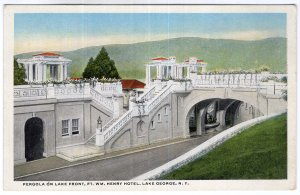 Lake George, N.Y., Pergola On Lake Front, Ft. Wm. Henry Hotel
