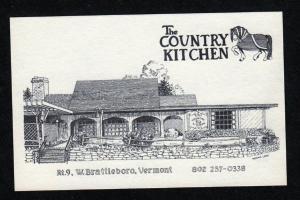 VT Country Kitchen Restaurant Rt 9 W West Brattleboro Vermont Postcard PC