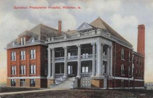 Waterloo Iowa view of Synodical Presbyterian Hospital antique pc Z12450