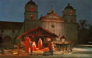 CA - Santa Barbara. The Mission, Nativity Creche